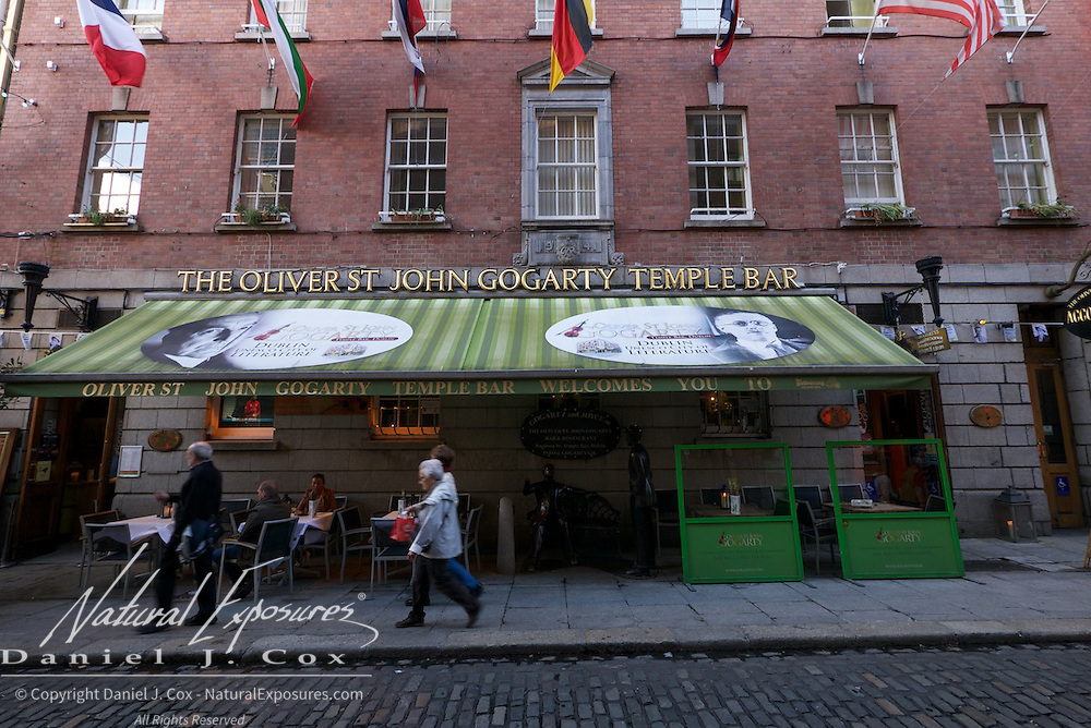 Street scenes of the Temple Bar District, Dublin, Ireland,