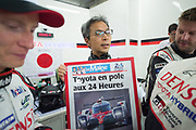 Toshio Sato, TMG President <br /> TOYOTA GAZOO  Racing. <br /> Le Mans 24 Hours Race, 12th to 18th June 2017<br /> Circuit de la Sarthe, Le Mans, France.