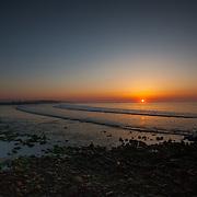 Today's  winter sunrise at Narragansett Town Beach,  .  April  28, 2013.