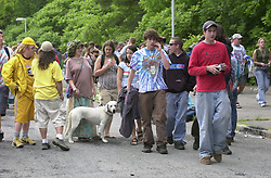 Fans before the Show.The Dead in concert at Saratoga Performing Arts Center 20 June 2003