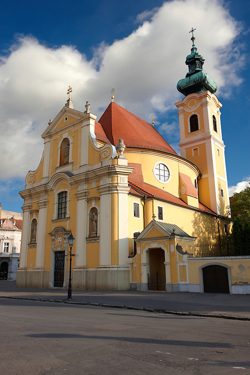 Carmelite church - Gyor ( Györ ) Hungary .<br /> <br /> Visit our HUNGARY HISTORIC PLACES PHOTO COLLECTIONS for more photos to download or buy as wall art prints https://funkystock.photoshelter.com/gallery-collection/Pictures-Images-of-Hungary-Photos-of-Hungarian-Historic-Landmark-Sites/C0000Te8AnPgxjRg
