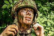 Army cadet,  Hockerill Anglo-European College, Bishop's Stortford.