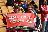 Middlesbrough fans  during the Sky Bet Championship match between Wolverhampton Wanderers and Middlesbrough at Molineux, Wolverhampton, England on 24 October 2015. Photo by Alan Franklin.