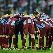 Trabzonspor's players during their UEFA Champions League group stage matchday 4 soccer match Trabzonspor between CSKA Moskva at the Avni Aker Stadium at Trabzon Turkey on Wednesday, 02 November 2011. Photo by TURKPIX