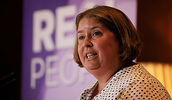 Ukip leadership contender Lisa Duffy delivers a speech entitled 'Positive Vision for British Islam' at the London Marriott Hotel, County Hall, London.