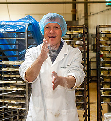Pictured: Willie Rennie<br />Scottish Liberal Democrat leader Willie Rennie was busy making pies and bridies today while discussing how voters stop a second independence referendum on a visit to Stuart Bakery. in  Methil<br /><br />Ger Harley | EEm 6 December 2019
