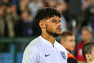 England defender Tyrone Mings comes onto the pitch for his England debut during the UEFA European 2020 Qualifier match between Bulgaria and England at Stadion Vasil Levski, Sofia, Bulgaria on 14 October 2019.
