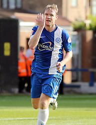 Peterborough United's Grant McCann celebrates scoring - Photo mandatory by-line: Joe Dent/JMP - Tel: Mobile: 07966 386802 05/10/2013 - SPORT - FOOTBALL - London Road Stadium - Peterborough - Peterborough United V Preston North End - Sky Bet League 1