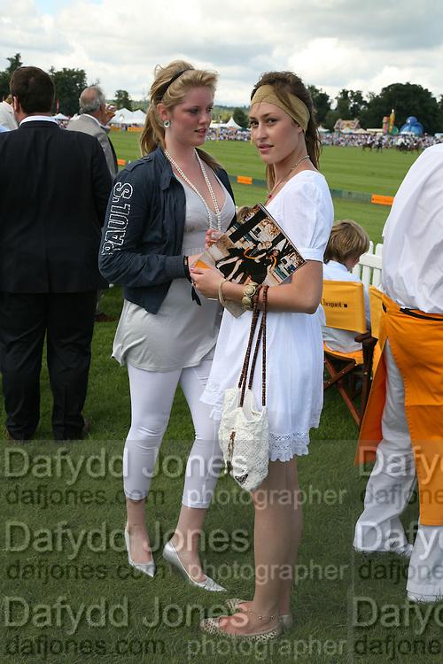 Hannah Clarke and Lady Tatiana Mountbatten, The Veuve Clicquot Gold Cup 2007. Cowdray Park, Midhurst. 22 July 2007.  -DO NOT ARCHIVE-© Copyright Photograph by Dafydd Jones. 248 Clapham Rd. London SW9 0PZ. Tel 0207 820 0771. www.dafjones.com.