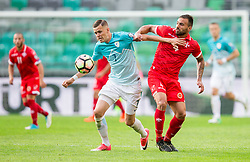 Josip Ilicic of Slovenia vs Steve Borg of Malta during football match between National teams of Slovenia and Malta in Round #6 of FIFA World Cup Russia 2018 qualifications in Group F, on June 10, 2017 in SRC Stozice, Ljubljana, Slovenia. Photo by Vid Ponikvar / Sportida