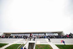 Spectators during friendly football match between NK Fantazisti (SLO) and 1st TFC - First Tennis & Football Club (AUT) presented by professional and former tennis players, on November 25, 2017 in Nacionalni nogometni center Brdo pri Kranju, Slovenia. Photo by Vid Ponikvar / Sportida