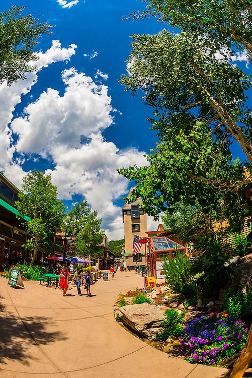 Snowmass Mall, Snowmass Village (Aspen), Colorado USA.