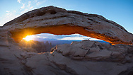 Sunrise at Mesa Arch, Utah, on 22nd July 2017. Picture by Andrew Tobin.