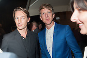 BENN NORTHOVER;  JEFFERSON HACK, Dinner to celebrate the opening of the first Berluti lifestyle store hosted by Antoine Arnault and Marigay Mckee. Harrods. London. 5 September 2012.