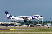 LOT - Polish Airlines / Polskie Linie Lotnicze, Embraer ERJ-175LR at Malpensa (MXP / LIMC), Milan, Italy