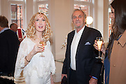 BASIA BRIGGS; MARK SHAND, Party given by Basia Briggs and Richard Briggs at their home in Chelsea. London. 14 May 2012