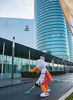 UTRECHT - Stockey verwelkomt de gasten voor het RaboBank kantoor.     Het KNHB Nationaal Hockey Congres 2020, Samen werken aan de   toekomst. COPYRIGHT  KOEN SUYK