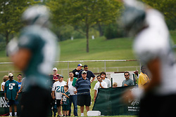 Bethlehem, PA - August 2nd 2008 - Eagles Fans watch during the Philadelphia Eagles Training Camp at Lehigh University (Photo by Brian Garfinkel)