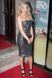 Grosvenor House Hotel, London, September 7th 2016. Celebrities attend the RSPCA's annual awards ceremony recognising the country's bravest animals and the individuals committed to improving their lives. PICTURED: Tilly Keeper fro Eastenders.