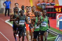 July 20, 2018 - Monaco - 800 metres hommes - Harun Abda (Etat Unis) - Nijel Amos (Botswana) - Alfred Kipketer  (Credit Image: © Panoramic via ZUMA Press)