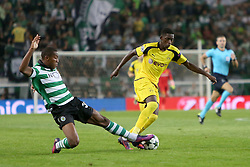 October 18, 2016 - Lisbon, Portugal - Sporting's defender Marvin Zeegelaar (L) vies with Dortmund's forward Ousmane Dembele during the UEFA Champions League Group F football match Sporting CP vs Borussia Dortmund at the Alvalade stadium in Lisbon, Portugal on October 18, 2016. Photo: Pedro Fiuza (Credit Image: © Pedro Fiuza via ZUMA Wire)