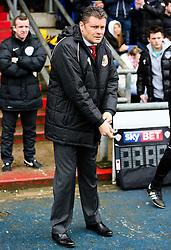 Bristol City Manager, Steve Cotterill - Photo mandatory by-line: Matt McNulty/JMP - Mobile: 07966 386802 - 03/04/2015 - SPORT - Football - Oldham - Boundary Park - Oldham Athletic v Bristol City - Sky Bet League One