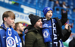 Chelsea fans in the stands prior to the match