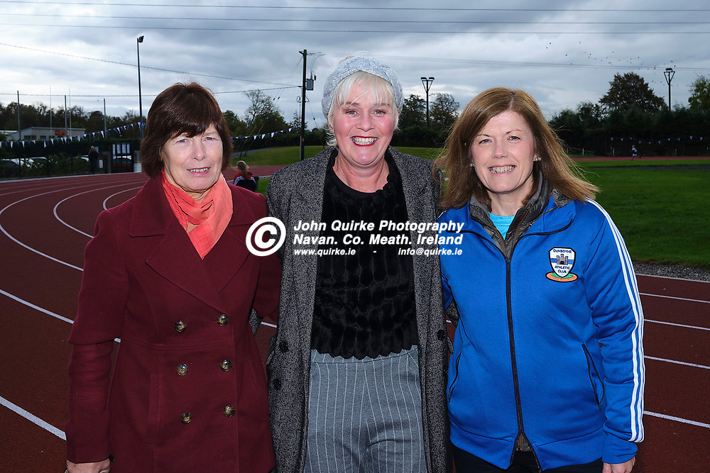 19/10/2019, Official opening of Dunboyne AC Track & facility<br /> Pictured at the opening were L-R Chris McDonnell, Kate Dunne & Michelle Wall<br /> Photo: David Mullen / www.quirke.ie ©John Quirke Photography, Unit 17, Blackcastle Shopping Cte. Navan. Co. Meath. 046-9079044 / 087-2579454.<br /> ISO: 400; Shutter: 1/250; Aperture: 6.4; <br /> File Size: 55.2MB
