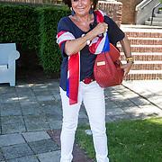 NLD/Amsterdam/20140613 - Leco van Zadelhoff organiseert samen met Beau Monde Beau Bateau een vaartocht met vriendinnen, Christine Kroonenberg