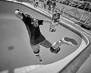 Skateboarder at the Bondi Beach Bowl, Bondi Beach,Australia