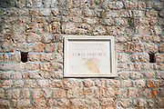 Memorial on the Great Wall, Ston, Dalmatian Coast, Croatia
