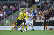 Bradden Inman looks to outpace a defender during the EFL Sky Bet League 1 match between Burton Albion and Rochdale at the Pirelli Stadium, Burton upon Trent, England on 4 August 2018.