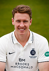 Middlesex's George Scott during the media day at Lord's Cricket Ground, London. PRESS ASSOCIATION Photo. Picture date: Wednesday April 11, 2018. See PA story CRICKET Middlesex. Photo credit should read: John Walton/PA Wire. RESTRICTIONS: Editorial use only. No commercial use without prior written consent of the ECB. Still image use only. No moving images to emulate broadcast. No removing or obscuring of sponsor logos.