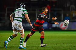 Dragons' Gavin Henson in action during todays match<br /> <br /> Photographer Craig Thomas/Replay Images<br /> <br /> EPCR Champions Cup Round 4 - Newport Gwent Dragons v Newcastle Falcons - Friday 15th December 2017 - Rodney Parade - Newport<br /> <br /> World Copyright © 2017 Replay Images. All rights reserved. info@replayimages.co.uk - www.replayimages.co.uk