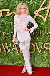 Pixie Lott attending the Fashion Awards 2017, in partnership with Swarovski, held at the Royal Albert Hall, London. Picture Date: Monday 4th December, 2017. Photo credit should read: Matt Crossick/PA Wire