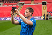 James Jennings Forest Green Rovers Football Club Familiarisation visit to Wembley Stadium, London, England on 10 May 2016. Photo by Shane Healey.
