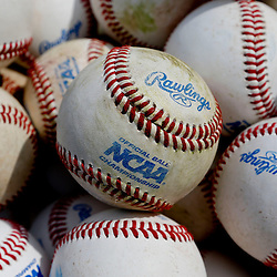 Jun 24, 2013; Omaha, NE, USA; A detail of baseball before game 1 of the College World Series finals between Mississippi State Bulldogs and the UCLA Bruins at TD Ameritrade Park. Mandatory Credit: Derick E. Hingle-USA TODAY Sports