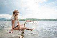 Young lady at Lake Winnisquam. ©2104 Karen Bobotas Photographer