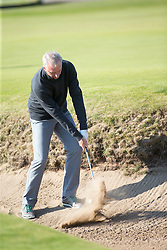 Johan Cruyff. Players art the 18th, Alfred Dunhill Links Championship at the Championship Course at Carnoustie.