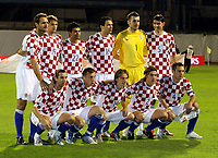 Fotball<br /> Kroatia v Israel<br /> 13.10.2007<br /> Kvalifisering Euro 2008<br /> Foto: Gepa/Digitalsport<br /> NORWAY ONLY<br /> <br /> Josip Simunic, Niko Kranjcar, Eduardo Da Silva, Jerko Leko, Stipe Pletikosa, Vedran Corluka hockend: Darijo Srna, Ivica Olic, Luka Modric, Dario Simic und Robert Kovac (CRO)<br /> Lagbilde Kroatia