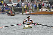 Henley, GREAT BRITAIN. Double Sculls Challenge cup. Leander club. winning the final at 2012 Henley Royal Regatta.  ..Sunday  14:48:32  01/07/2012. [Mandatory Credit, Peter Spurrier/Intersport-images]...Rowing Courses, Henley Reach, Henley, ENGLAND . HRR.
