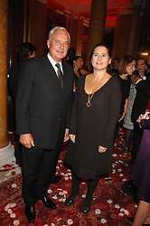 BERNARD FORNAS CEO of Cartier and ALEXANDRA SHULMAN at a party to celebrate the launch of the 'Inde Mysterieuse' jewellery collection held at Lancaster House, London SW1 on 19th September 2007.<br />