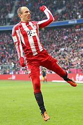 12-02-2011 VOETBAL: BAYERN MUNCHEN - TSG 1899 HOFFENHEIM: MUNCHEN<br />  Jubel nach dem 3-0 durch Arjen Robben (Bayern #10) <br /> ***NETHERLANDS ONLY***<br /> ©2010- FRH-nph / Straubmeier