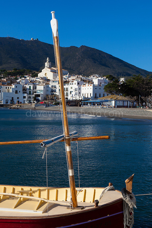 The seafront in Cadaques, Catalonia, Spain.