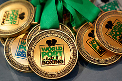 17-11-2019 NED: World Port Boxing Netherlands - Kazakhstan, Rotterdam<br /> 3rd World Port Boxing in Excelsior Stadion Rotterdam / Medailles