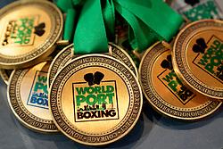 17-11-2019 NED: World Port Boxing Netherlands - Kazakhstan, Rotterdam<br /> 3rd World Port Boxing in Excelsior Stadion Rotterdam / Medailles