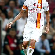 Galatasaray's Engin Baytar during their friendly soccer match Galatasaray between ACF Fiorentina at the TT Arena in istanbul Turkey on Wednesday 08 August 2012. Photo by TURKPIX