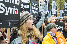 "2015-11-28 Thousands in London ""Don't Bomb Syria"" protest"