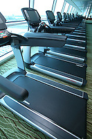 Celebrity Silhouette. Celebrity cruises' new ship launched in Hamburg 21st July 2011..Interior feature photos..Fitness Centre...