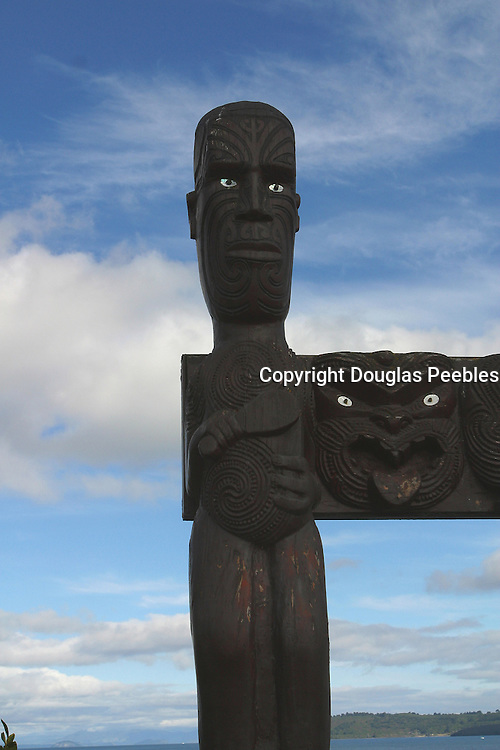 Maori Carving, Lake Taupo, North Island, New Zealand<br />
